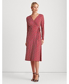 Print Jersey Surplice Dress