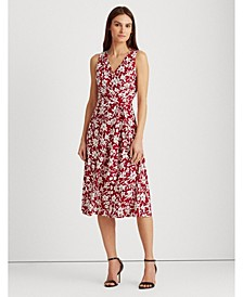 Floral Tie-Waist Jersey Dress