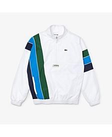 Men's SPORT Water-Repellent Colorblocked Parka Jacket with Vertical Stripes