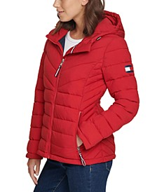 Hooded Packable Puffer Coat