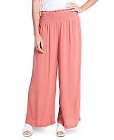 Smocked Pull-On Pants
