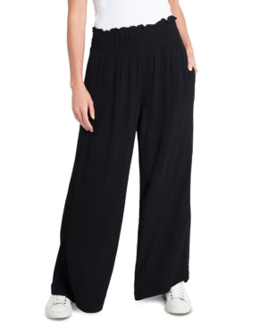 1.state Wide leg pants SMOCKED PULL-ON PANTS