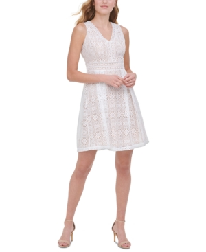 Kensie KENSIE MEDALLION LACE DRESS
