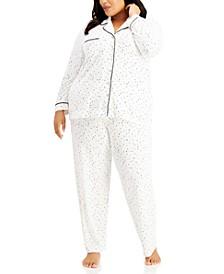 Plus Size Ultra-Soft Pajama Set, Created for Macy's