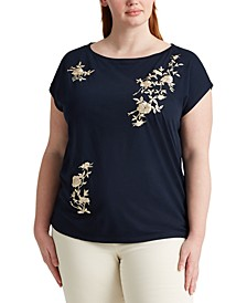 Plus-Size Boatneck T-Shirt
