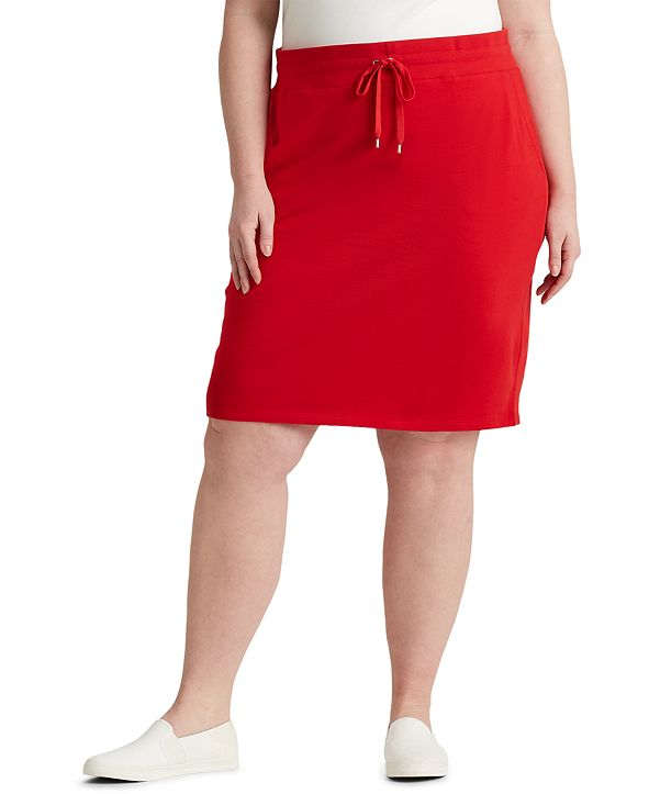 Lauren Ralph Lauren Plus Size French Terry Skirt