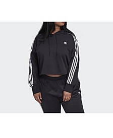 Women's Cropped Hoodie, Plus Size
