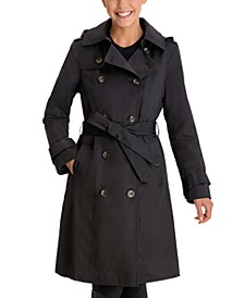 Double-Breasted Hooded Trench Coat, Created for Macy's