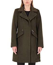 Asymmetrical Stand-Collar Coat