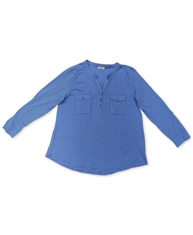 Style & Co Cotton Striped Shirt, Created for Macy's