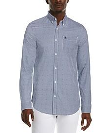Men's Slim-Fit Gingham Shirt