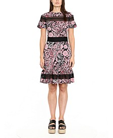 Paisley-Print Dress, Regular & Petite Sizes