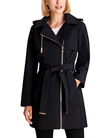 Asymmetrical Hooded Raincoat, Created for Macy's