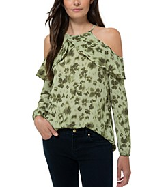 Ruffled Cold-Shoulder Blouse, Regular & Petite Sizes