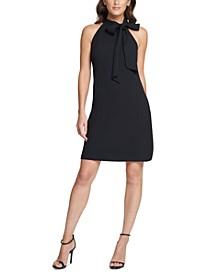Petite Tie-Neck Shift Dress