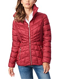 Quilted Packable Water-Resistant Puffer Coat