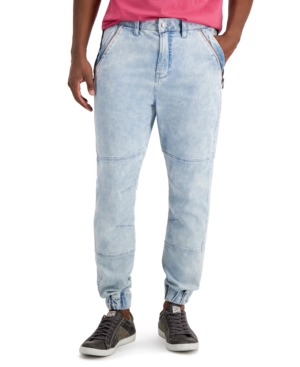 80s Men's Clothing | Shirts, Jeans, Jackets for Guys Guess Mens Utility Denim Cargo Joggers $128.00 AT vintagedancer.com