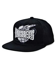 Houston Rockets HWC XL Black Dub Snapback Cap