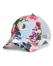 Chicago Cubs Women's Floral 9FORTY Cap