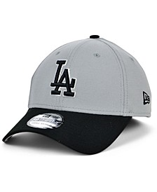 Los Angeles Dodgers Team Classic Gray Black White 39THIRTY Cap