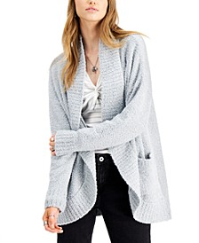 Juniors' Plush Open-Front Cardigan