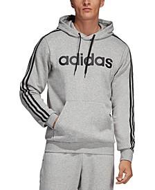 Men's Essentials 3-Stripes Fleece Logo Hoodie
