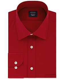 Men's Classic/Regular-Fit Non-Iron Performance Stretch Solid Dress Shirt