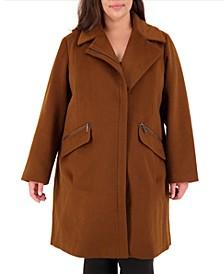 Plus Size Asymmetrical Coat