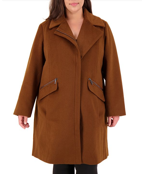 Vince Camuto Plus Size Asymmetrical Coat