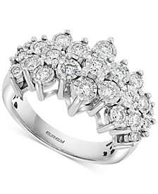 EFFY® Diamond Cluster Ring (1 ct. t.w.) in 14k White Gold