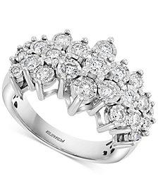 EFFY® Diamond Cluster Ring (1 ct. t.w.) in 14k White Gold
