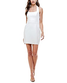 Juniors' Halter-Neck Bodycon Dress