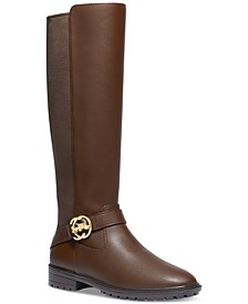 Women's Farrah Wide-Calf Logo Buckle Riding Boots