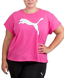 Plus Size Cropped Cotton Logo T-Shirt