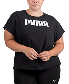 Plus Size Cotton Logo T-Shirt