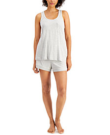 Alfani Women's Tank & Shorts Pajama Set, Created for Macy's