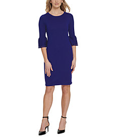DKNY Cutout Bell-Sleeve Sweater Dress
