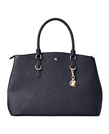 Leather Double-Zip Satchel