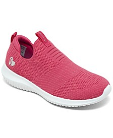 Little Girls Ultra Flex Fluorescent Fun Casual Sneakers from Finish Line