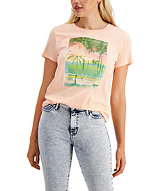 GUESS Embellished Graphic Cotton T-Shirt