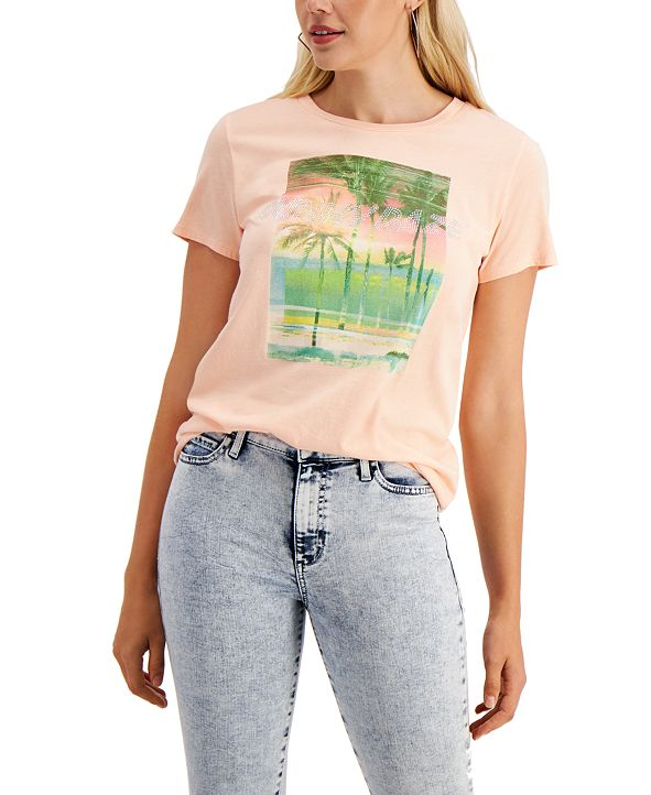 GUESS Sunny Daze Easy Graphic T-Shirt