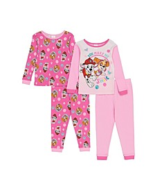 PAW Patrol Toddler Girls 4-Piece Pajama Set