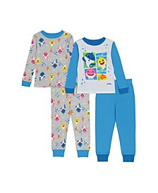 Baby Shark Toddler Boys 4-Piece Pajama Set