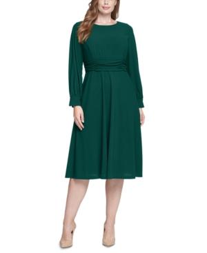 Plus Size Long-Sleeve A-Line Dress