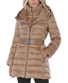 Tahari Faux-Fur Trim Hooded Puffer Coat, Created for Macy's