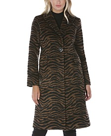 Zebra-Print Walker Coat, Created for Macy's