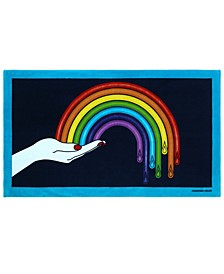 Drip Rainbow Beach Towel