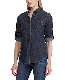 Lauren Ralph Lauren Petite Denim Shirt