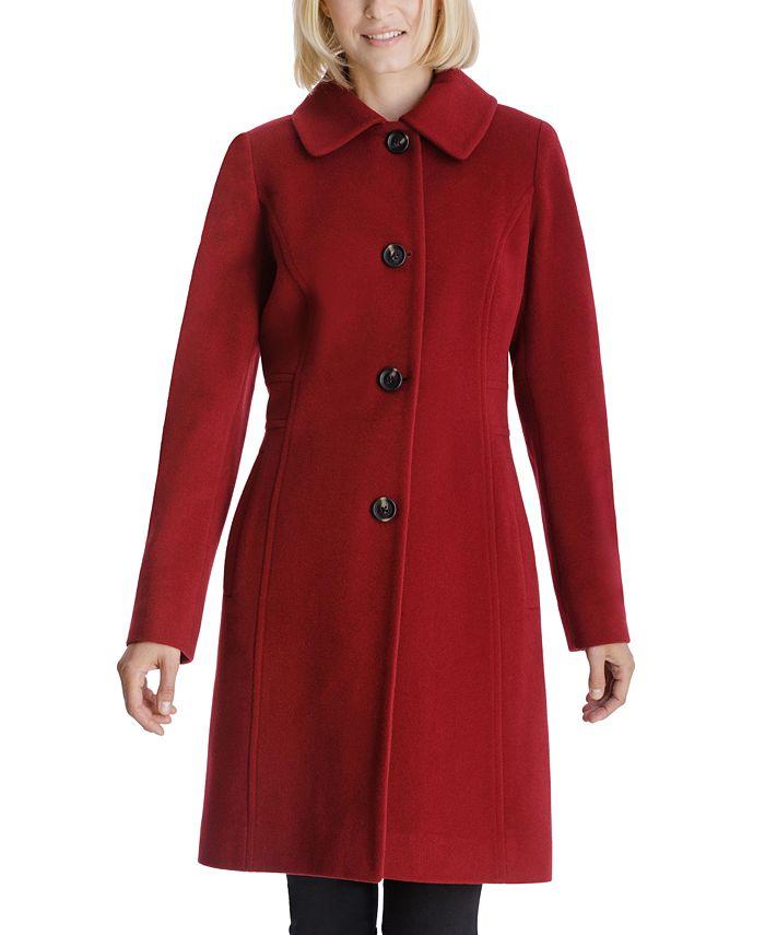 Anne Klein - Club-Collar Walker Coat