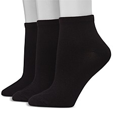 Women's Ultimate ComfortSoft 3pk Ankle Socks, Extended Size